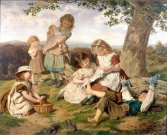 sophie-anderson-1840-1890-the-childrens-story-book-ost-birmingham-museums-art-gallery
