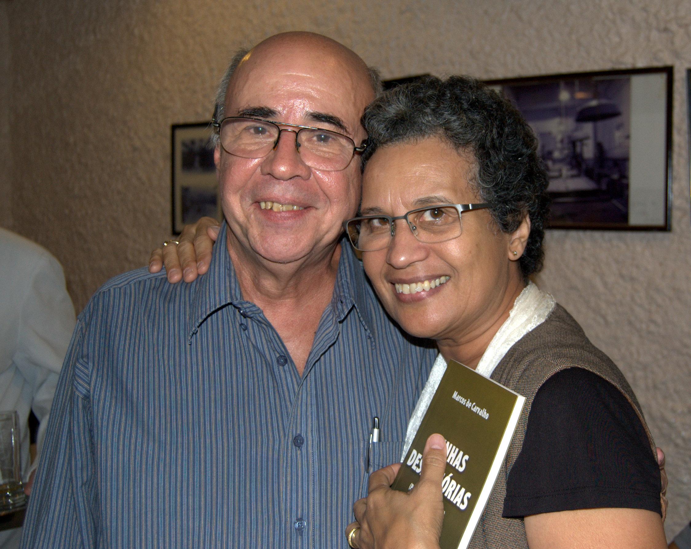 Com Therezinha Mello, da Capitolina Edições
